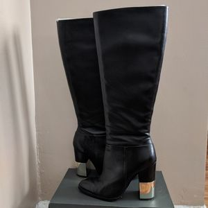Aldo tall leather heeled boots